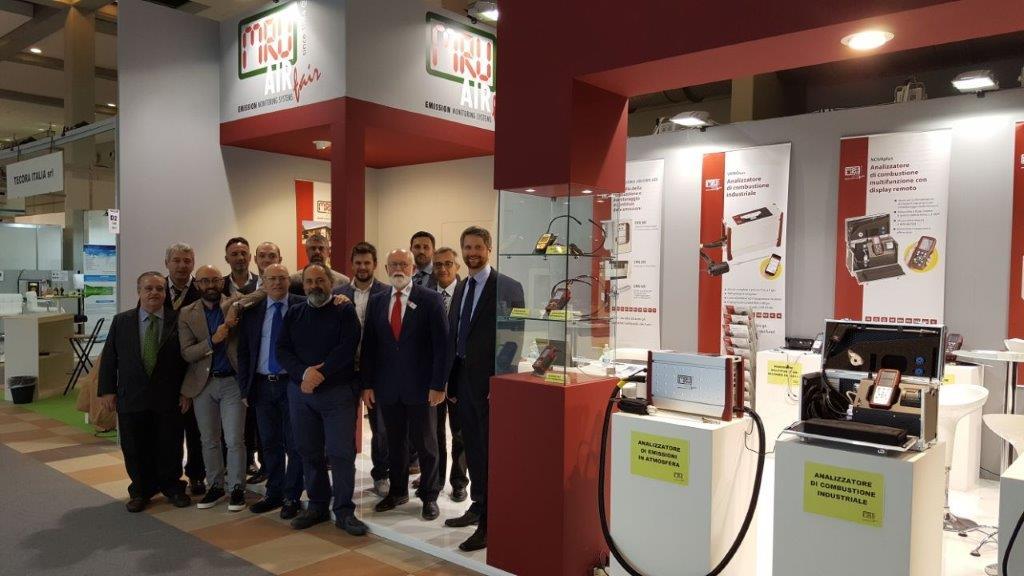 Analizzatori MRU la squadra al completo ad Ecomondo Rimini