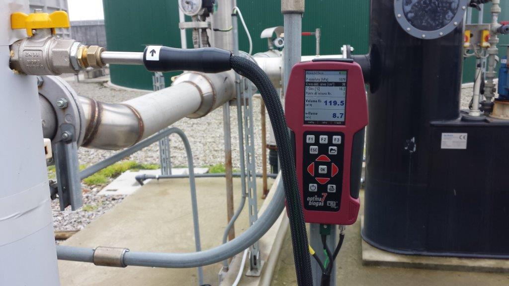 Misura portata biogas